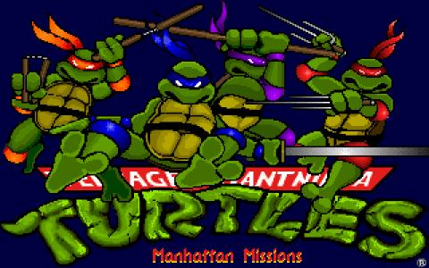 Teenage Mutant Ninja Turtles 3: The Manhattan Project - title cover