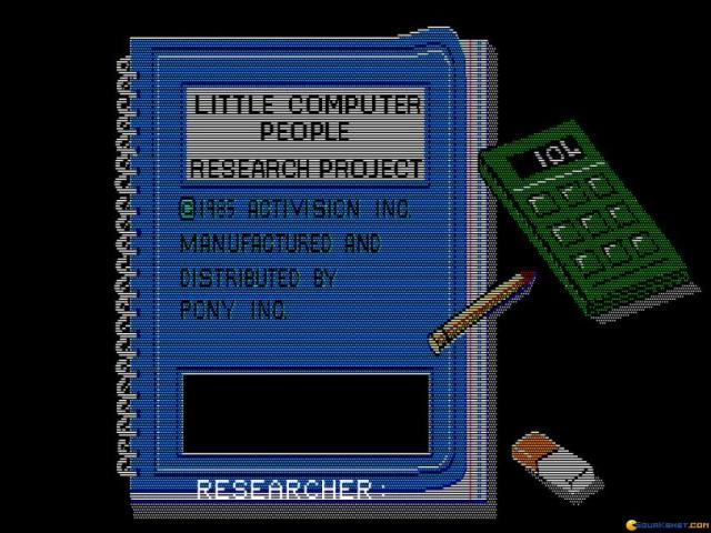 Little Computer People - game cover