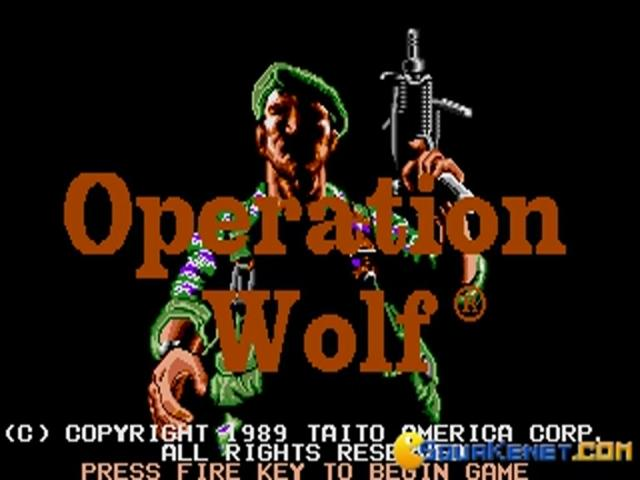 Operation Wolf - game cover