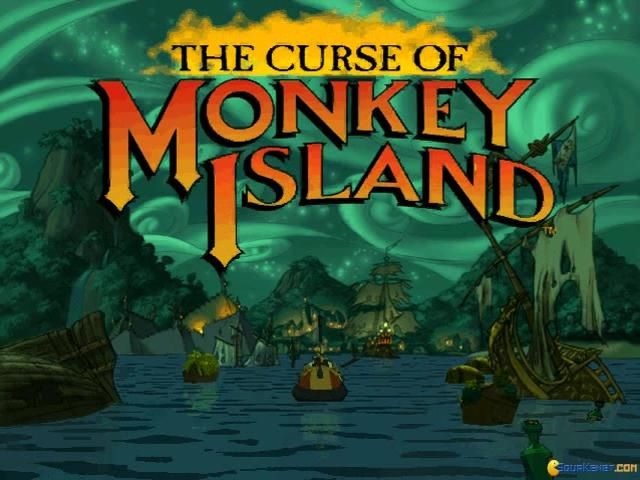The Curse of Monkey Island - title cover