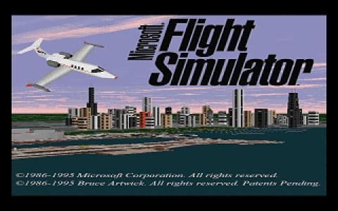Microsoft Flight Simulator 5.0 - title cover