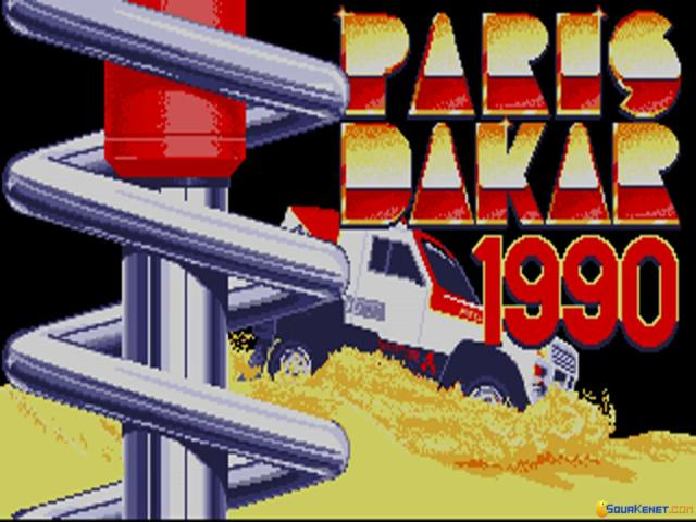 Paris Dakar 1990 - title cover
