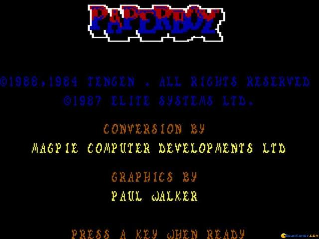 Paperboy - title cover