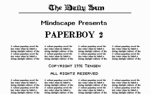 Paperboy 2 - title cover