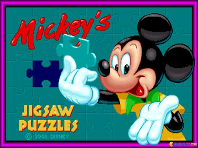 Mickey's Jigsaw Puzzles - title cover