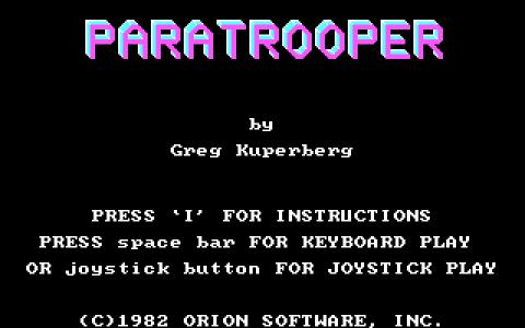 Paratrooper - title cover