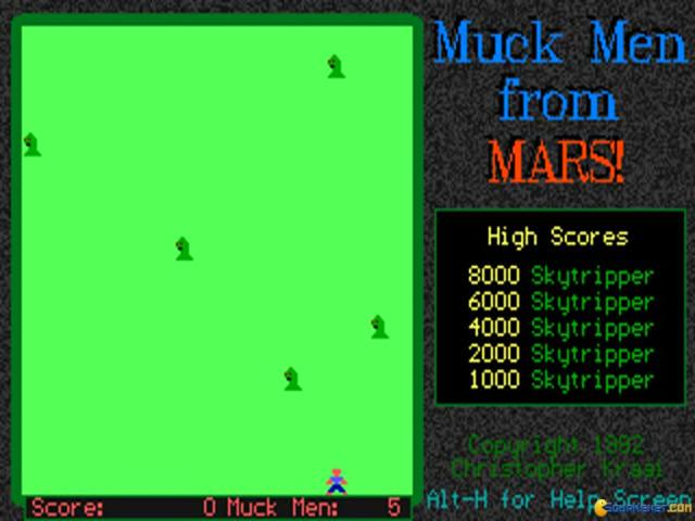 Muck Men from Mars - game cover