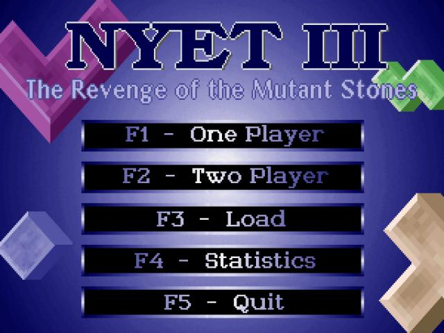 Nyet 3: The Revenge of The Mutant Stones - game cover