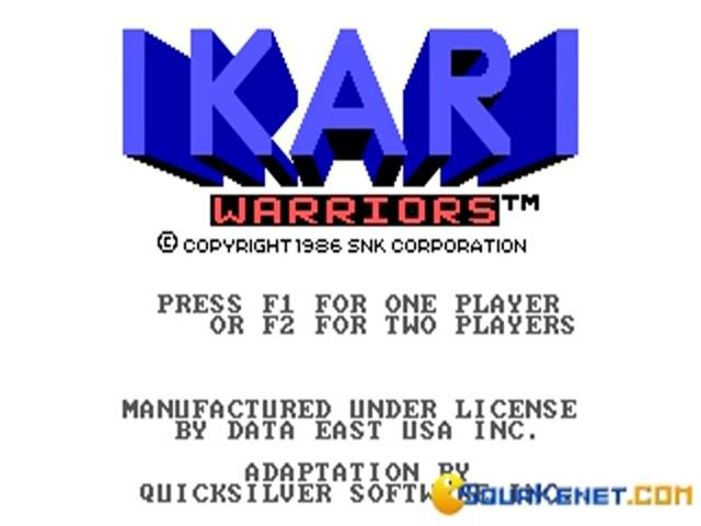 Ikari Warriors - title cover