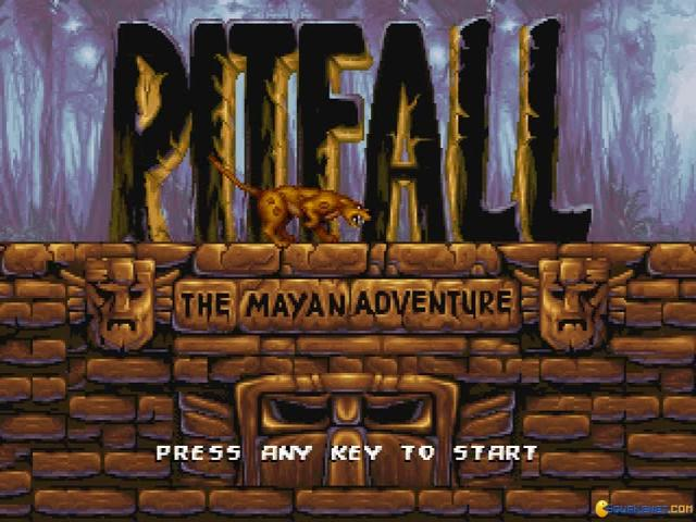 Pitfall Mayan Adventure - game cover
