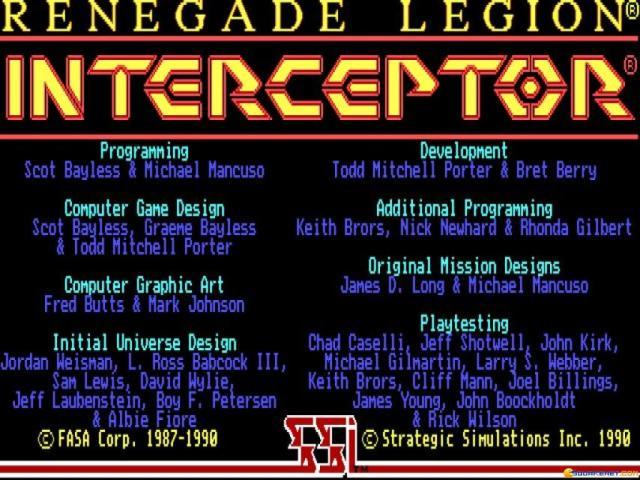 Renegade: Legion Interceptor - title cover