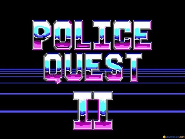Police Quest 2 - title cover