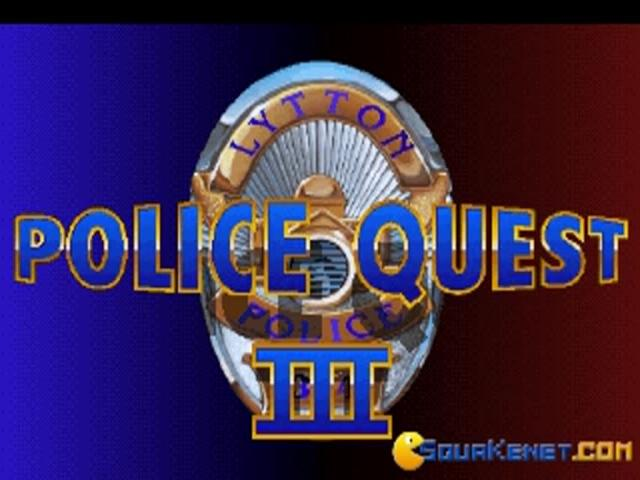 Police Quest 3 - title cover