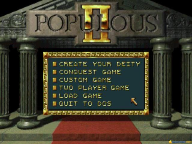 Populous 2 - title cover