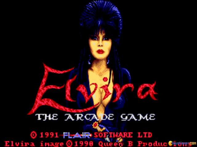 Elvira Arcade Game - title cover