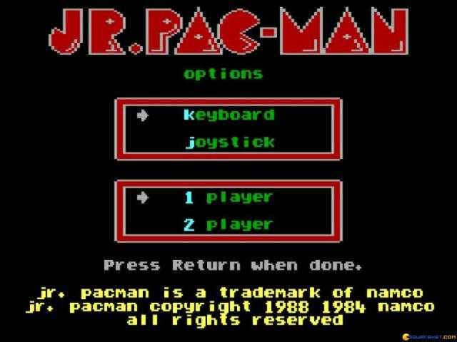 Jr Pacman - title cover