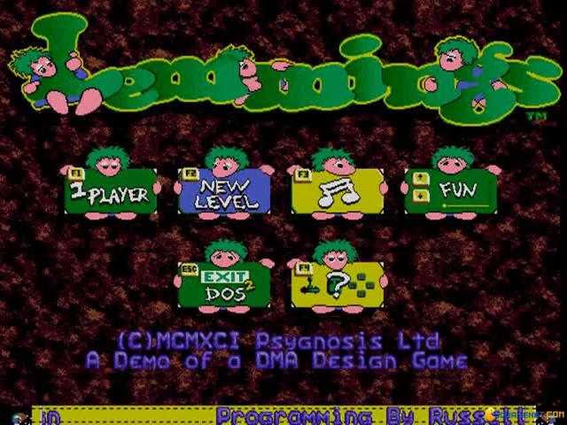 Save the Lemmings - title cover