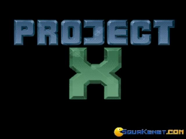 Project X - title cover