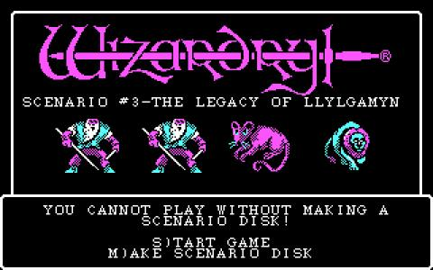 Wizardry III - title cover