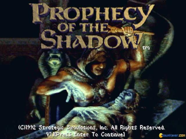 Prophecy of the Shadows - title cover