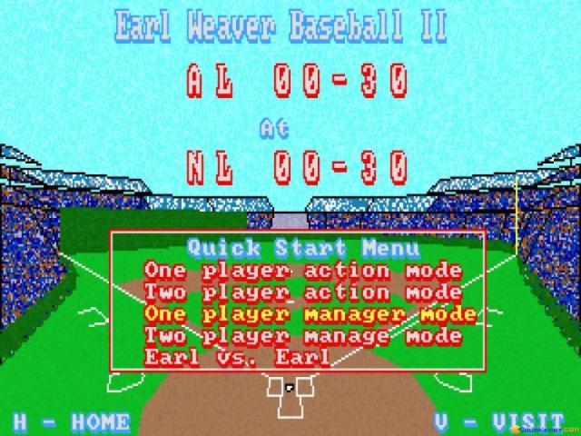 Earl Weaver Baseball 2 - title cover