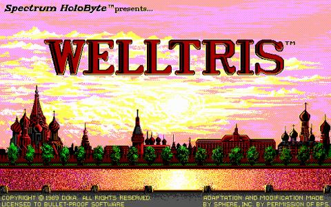 Welltris - title cover
