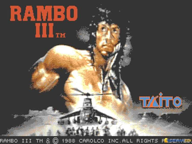 Rambo 3 - game cover