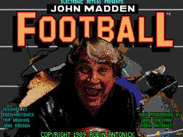 John Madden Football - game cover