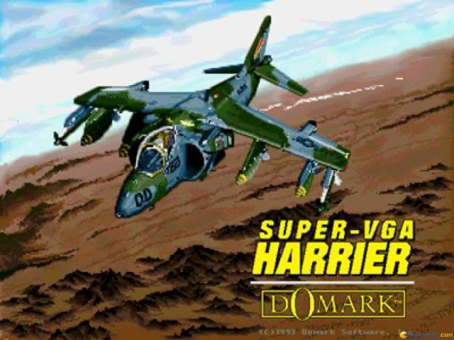 Super-VGA Harrier - game cover