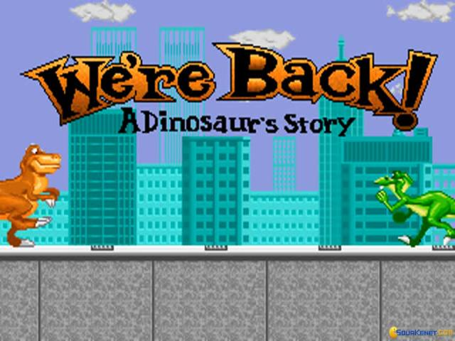 We're Back: A Dinosaur Story - title cover