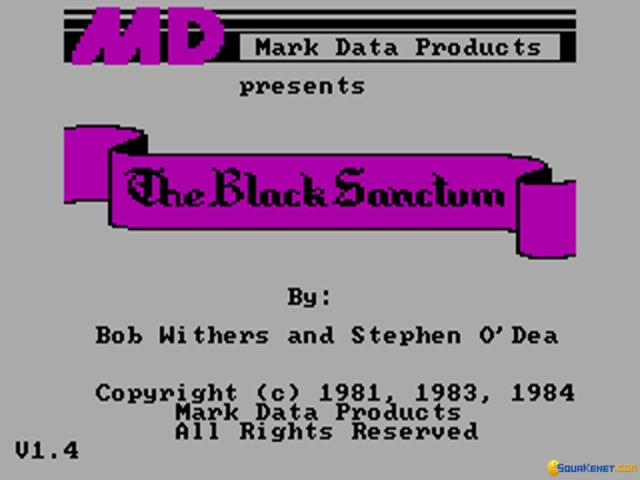The Black Sanctum - title cover