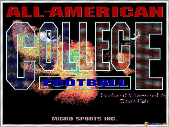 All-American College Football - title cover