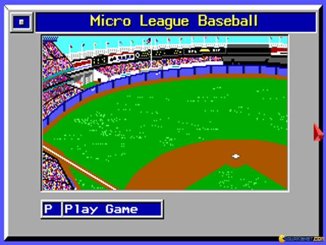 Micro League Baseball 1 - title cover