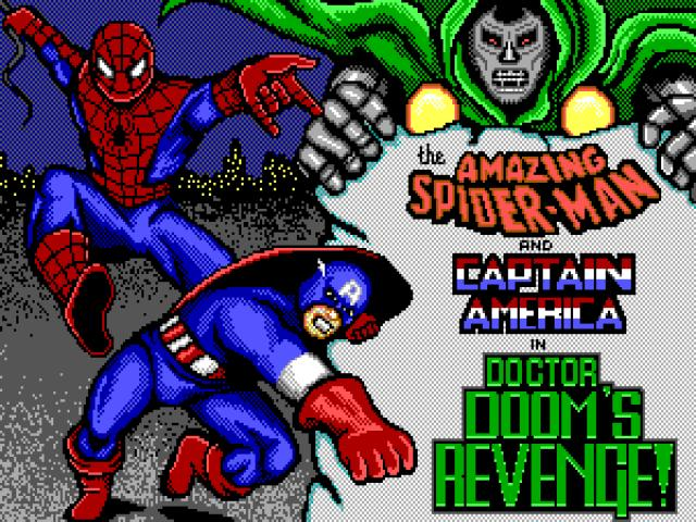 Spider-Man and Captain America in: Dr. Doom Revenge - title cover