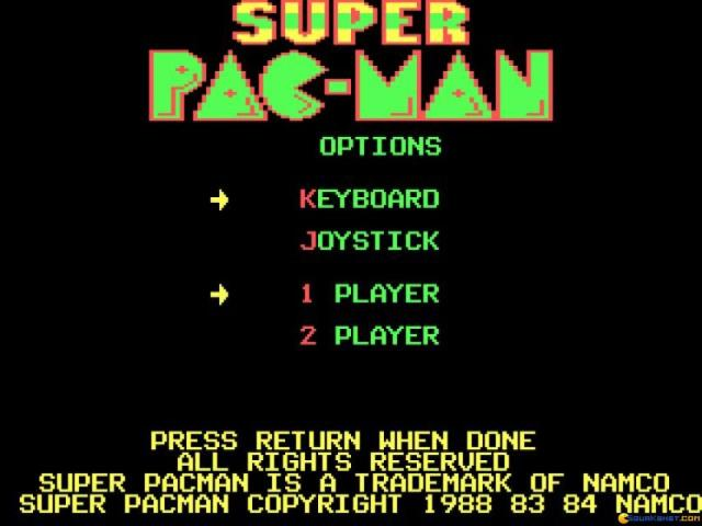 Super Pac-Man - title cover