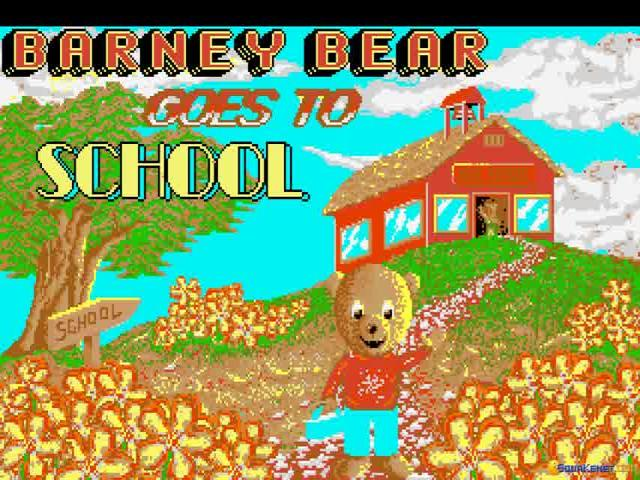 Barney Bear Goes to School - title cover
