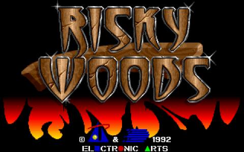 Risky Woods - title cover