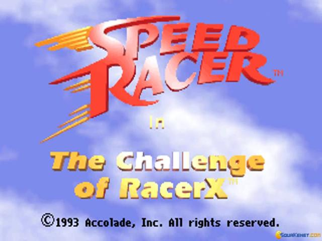 Speed Racer: The Challenge of Racer X - game cover