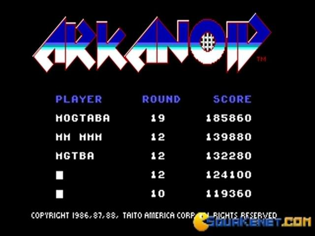 Arkanoid - game cover