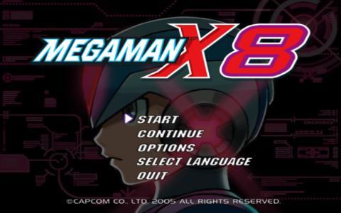 Mega Man X8 - title cover