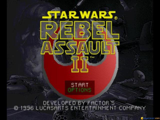 Star Wars: Rebel Assault II: The Hidden Empire - title cover