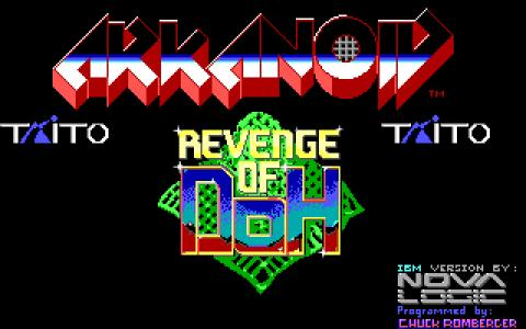 Arkanoid 2 - title cover