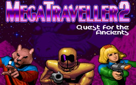 MegaTraveller 2 - Quest for the Ancients - title cover