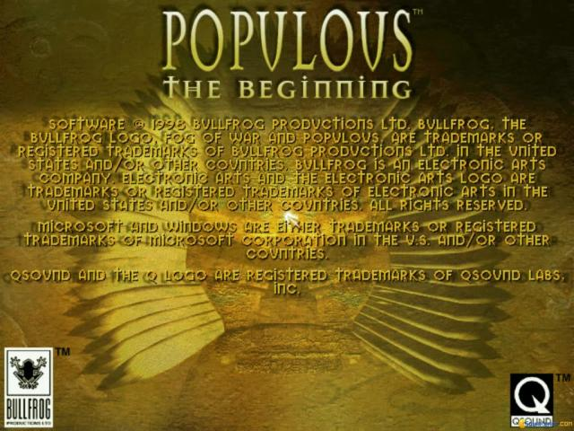 Populous 3: The Beginning - title cover