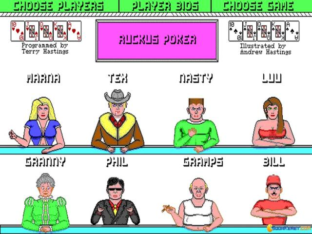 Ruckus Poker - game cover