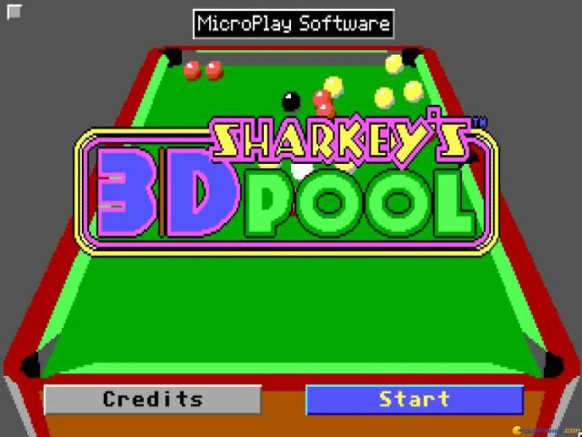 Sharkey's 3D Pool - title cover
