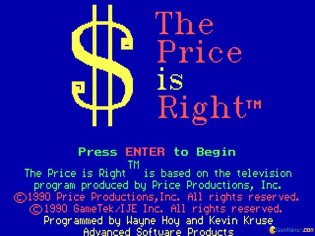 Price is Right, The - title cover