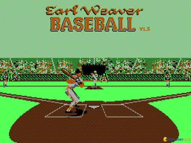 Earl Weaver Baseball - game cover