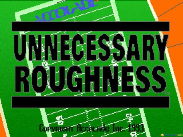 Unnecessary Roughness - title cover