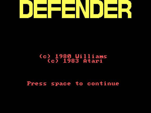 Defender - title cover